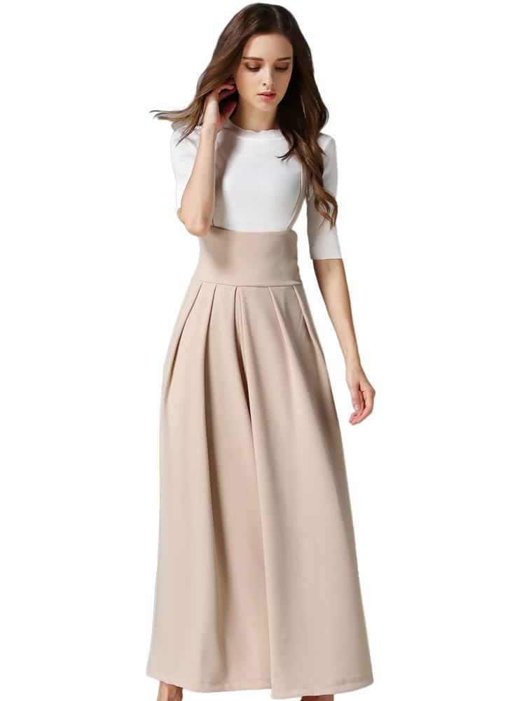 Only US$29.99, Elegant Loose Long Culottes Wide Leg High Waist ...