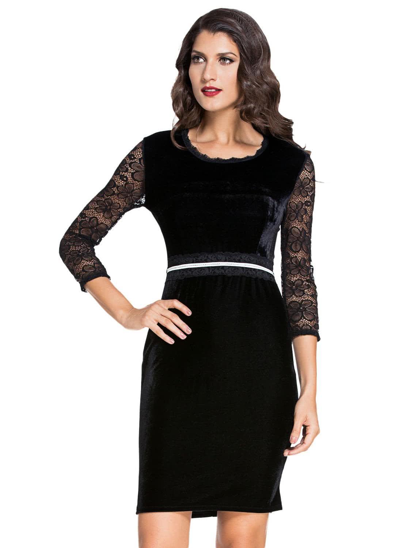 Black dress lace sleeves - Only Us 20 25 Black M Black Lace Sleeves Bodycon Velvet Midi Only Us 20 25 Black M Black Lace Sleeves Bodycon Velvet Midi