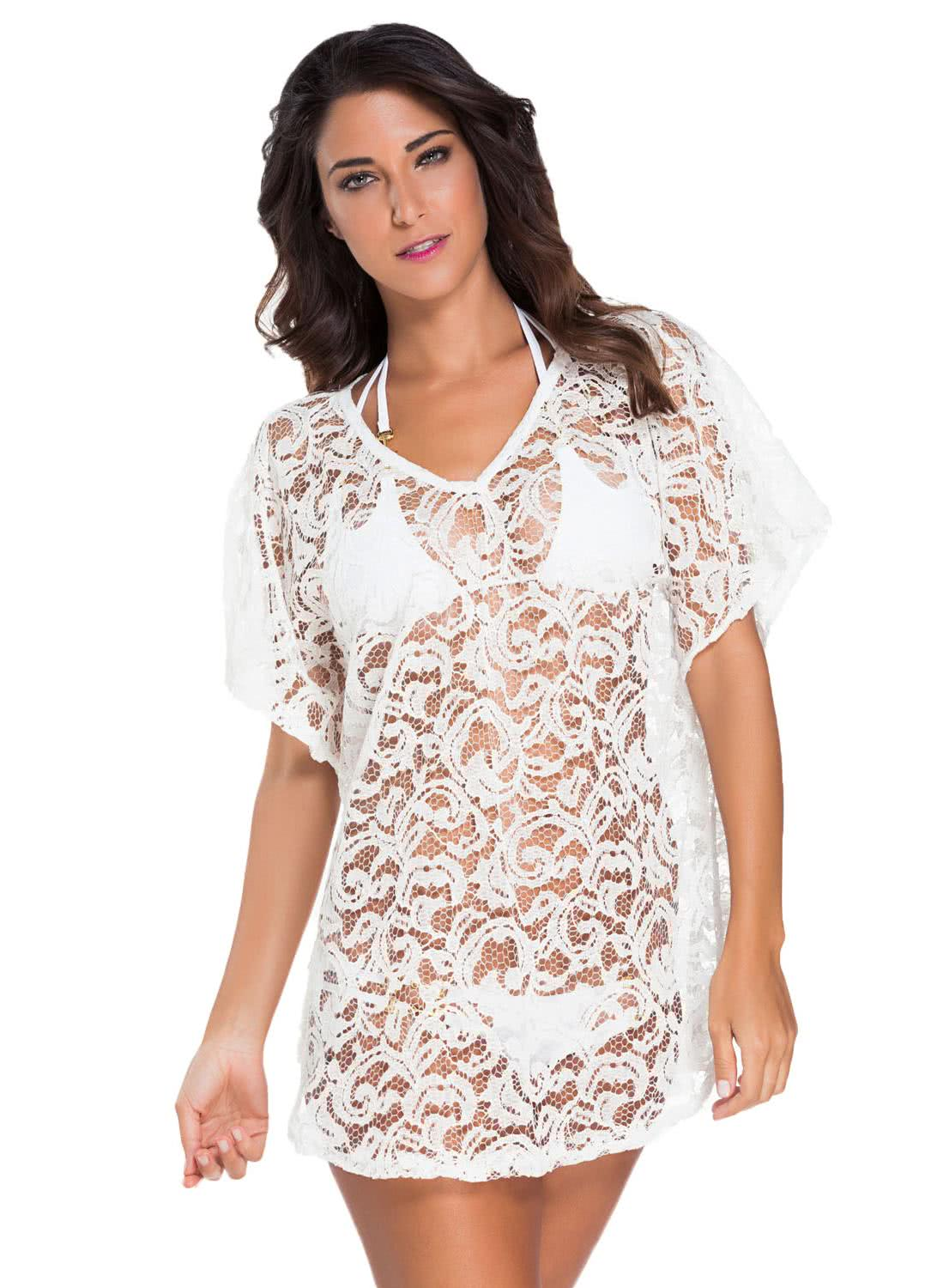 Lace Up Neck Embellished Kaftan, in a vibrant rose color. Soft, silky, the perfect beach cover up.-Digital Printed Front Embellished Kaftan%Silk, 45%Polyester.