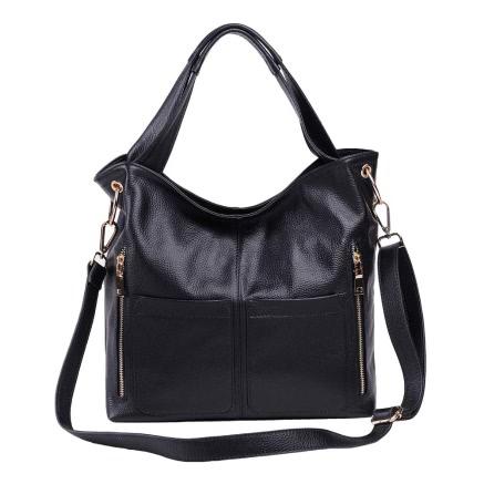 Buy Fashion Genuine Leather Large Capacity Multi-Pockets Handbag Totes