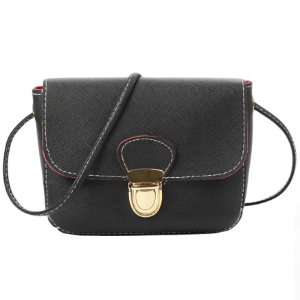 Buy PU Solid Flap Hasp Crossbody Bag