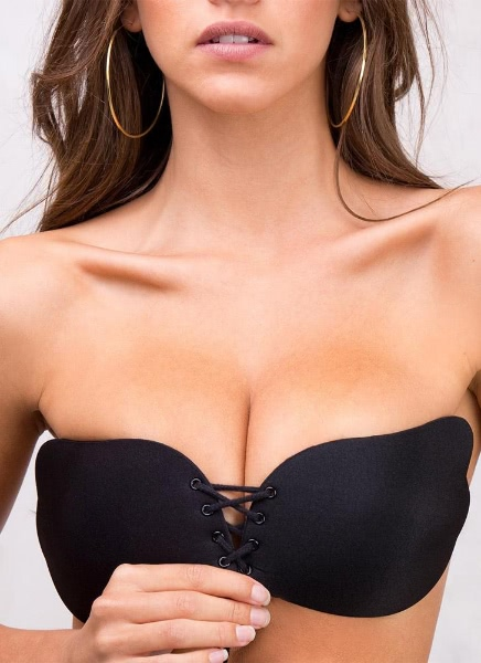 Silicone Push Sculpt Lift Adhesive Invisible Stick Gel Wing Bra B C D Cup