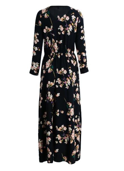 Buy Anself Long Sleeve Floral Maxi Dress