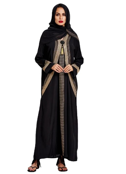 Buy Muslim Contrast Color Kaftan Abaya Islamic Jilbab Robe Hijab