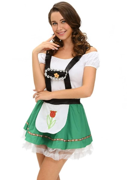 Buy Oktoberfest Costume Beer Maid Halloween Bar Dress