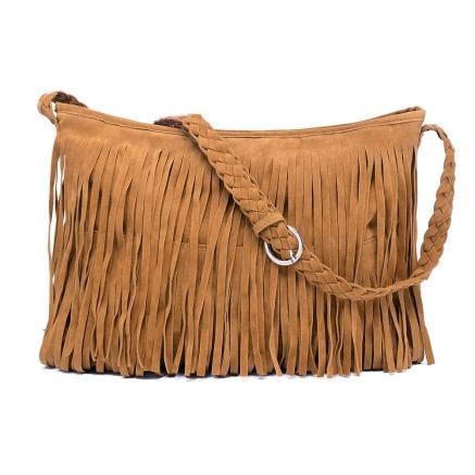 Buy Boho Fringe Tassel PU Leather Crossbody Shoulder Bag