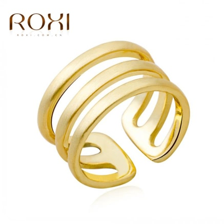 ROXI Gold Plated Smooth Opening Ring Jewelry Nice Gift