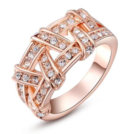 Buy Roxi Gold Plated Zircon Crystal Rhinestone Weave Ring