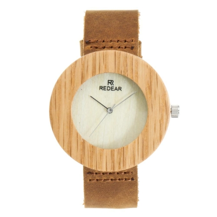 Buy Redear Wooden Watch Women Quartz Genuine Leather Band Wristwatch Female Relogio Feminino