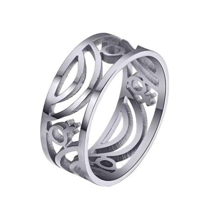 Punk Female Metal Titanium Steel Ring