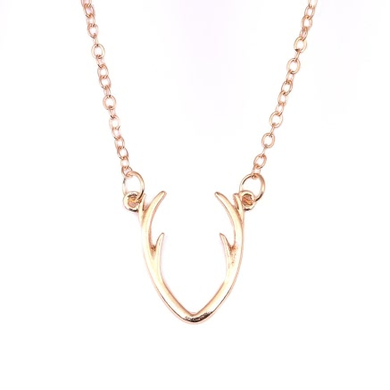 Buy Zinc Alloy Animal Deer Horn Pendant Necklace