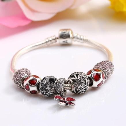 Buy Romacci S925 Sterling Silver Bracelet DIY Women Jewelry