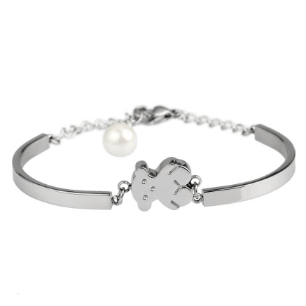 Buy Little Bear Twist Chain Bangle Titanium Steel Women's Bracelet