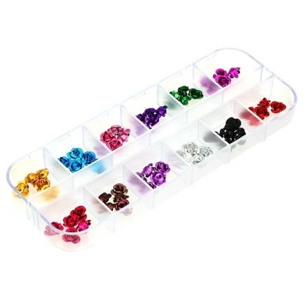 Buy 1Set 3D Nail Art Emulational Dried Flowers 12 Colors Fingers Decoration