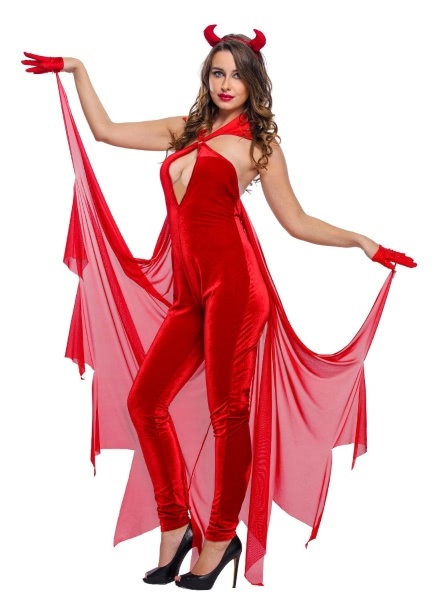 Buy Devilish Diva Costume Red