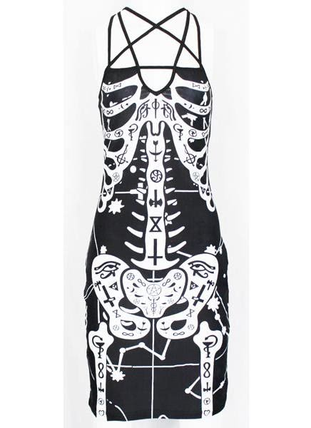 Buy Occult Bones Printed Dress