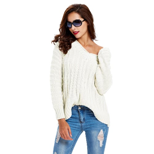 Solid Ribbed V Neck Raglan Sleeve Casual Sweater