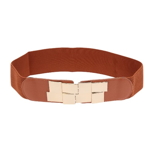 New Fashion Women Sequined Clasp Front Stretch Elastic Wide Belt