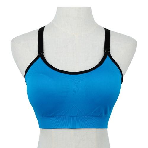 Fashion Wireless Push Up Padding Fitness Stretch Breathable Sports Bra Top