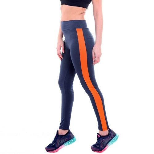 Fashion Candy Color Stripe High Waist Yoga Sport Leggings
