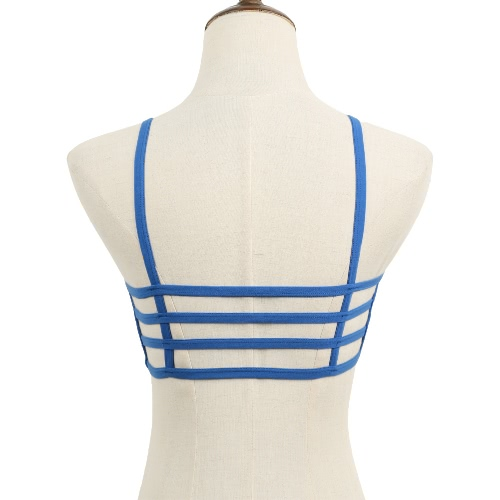 Padded Bra Hollow Out Wireless Solid Bralette Crop Top