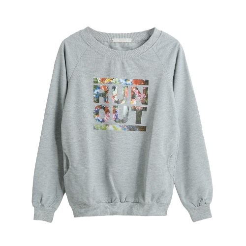 Sweatshirt Letter Print Casual Loose Pullover