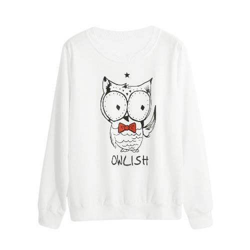 Sweatshirt Casual Cartoon Letter Print Pullover