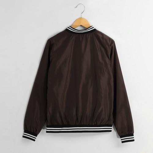 Biker Bomber Jacket Slim Short Zipper Coat