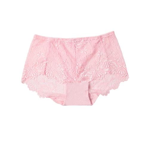 Lace Transparent Soft Briefs Underwear