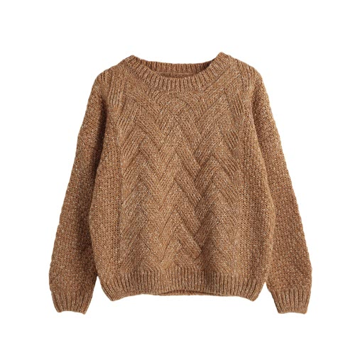 Casual Plaid Thick Knitting Mohair Sweater