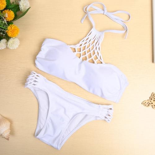 Sexy Halter Criss Cross Bikini Set