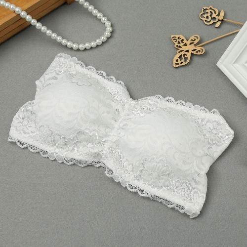 Sexy Lace Bandeau Padded Bra