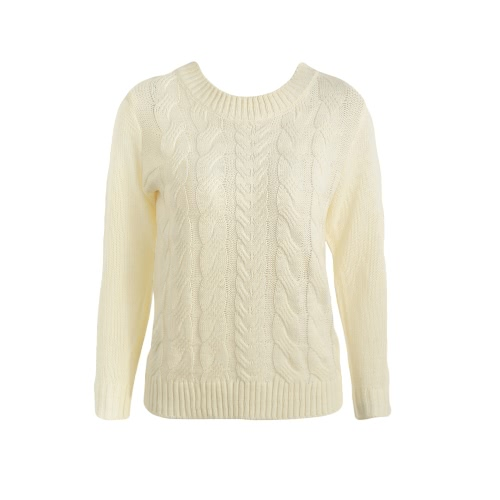 Twist Knitted Long Sleeves Sweater