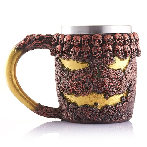 Creepy 3D Skull Coffee Mug Cup Tankard Novelty for Halloween Decoration