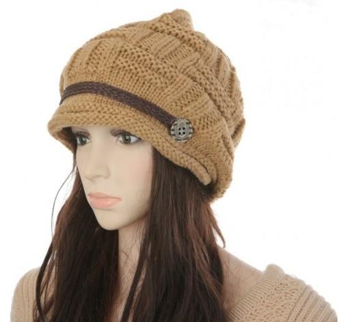 New Winter Women Beanie Chunky Knit Baggy Hat Headwear