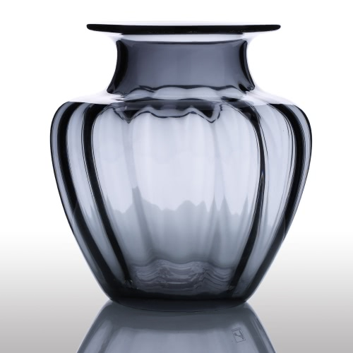 CASAMOTION Modern Hand Blown Jar Shaped Glass Vase