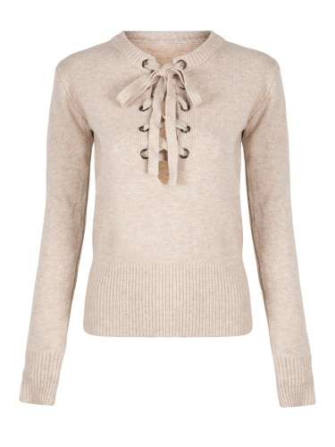 V Neck Cross Ties Pullover Casual Knitwear