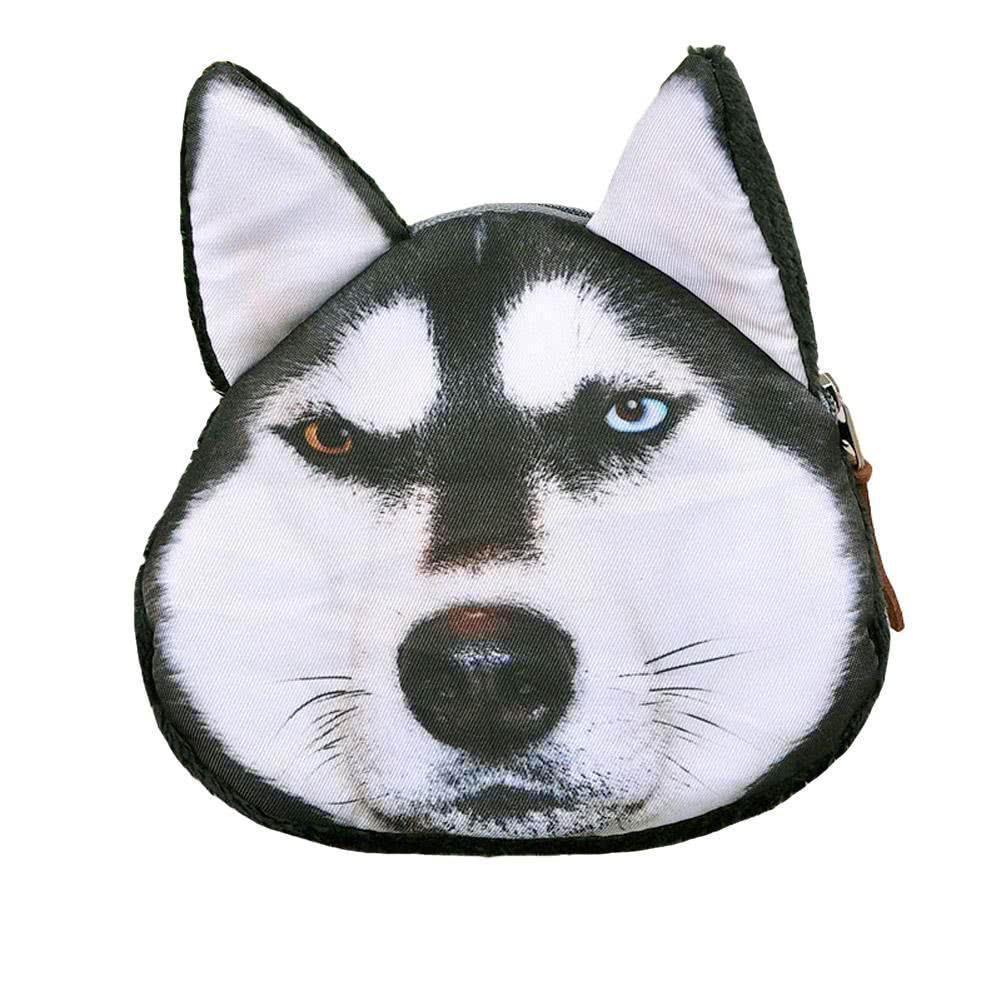 Nur 4.85€, Hübsch Frauen Coin Purse Hund Tier Print Mini Geldbörse ...