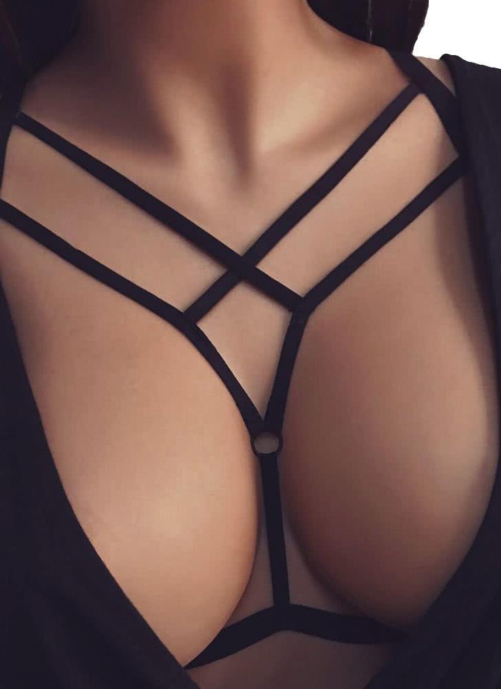 black xl sexy lingerie cage fetish bondage belt erotic