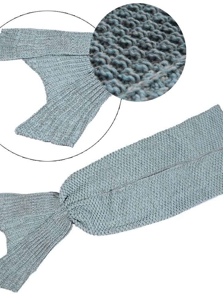 l blau beliebte mermaid tail handgewebte stricken wolle decke winter klimaanlage decken siesta. Black Bedroom Furniture Sets. Home Design Ideas