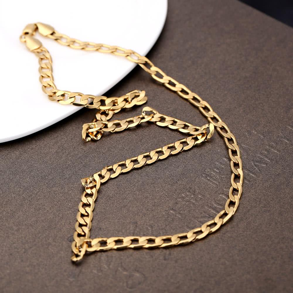 18k gold plated gold 18k gold plated chain necklace. Black Bedroom Furniture Sets. Home Design Ideas