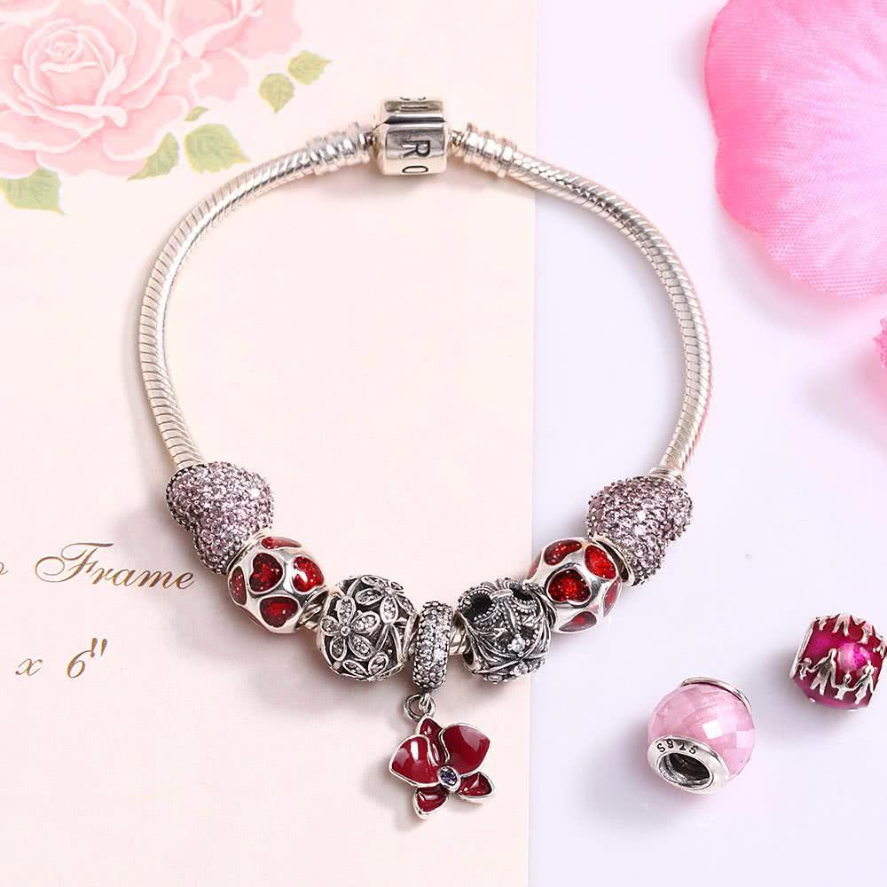#1 Romacci S925 Sterling Silver Bracelet Diy Women Jewelry  Chicuu