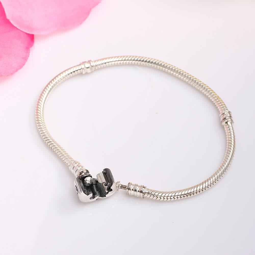 Romacci S925 Sterling Silver Bracelet Diy Women Jewelry