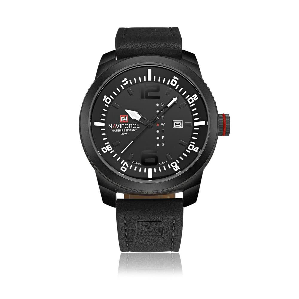 black&white NAVIFORCE Analog Date Week Waterproof PU ...