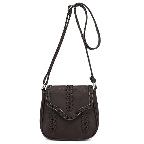 Vintage PU Leather Hollow...