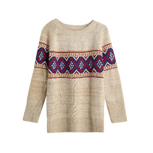 Geometric Thick Knitting Sweater