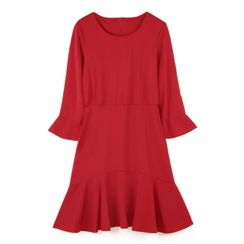 Fashion Round Neck 3/4 Sleeve