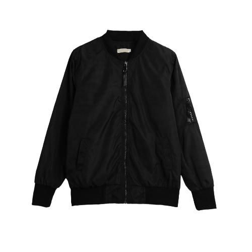 Vintage Slim Short Zipper Bomber Jacket