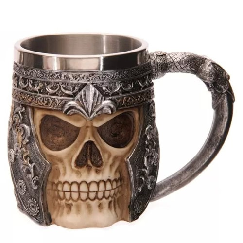 Creepy 3D Skull Coffee Mug Cup Tankard Novelty for Halloween Decoration