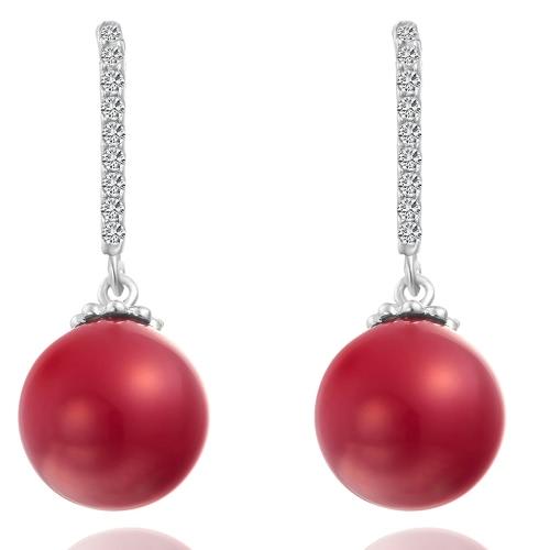 Шарма способа уникально шарика Циркон Rhinestone Кристалл позолоченный медный серьги уха качают ювелирные изделия для женщин